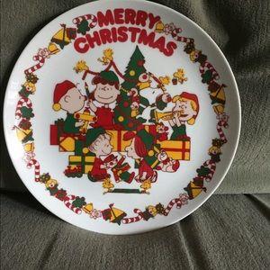 Peanuts Christmas Plate 1950-1966